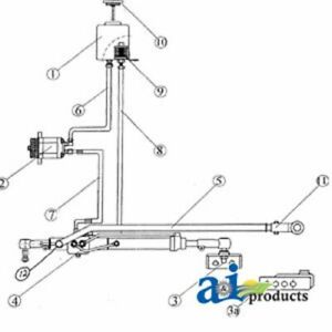 A fd100 Ford Tractor Power Steering Conv Kit 4000 4600