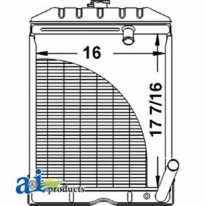 A c5nn8005ab Ford Tractor Radiator Naa 2000 4000 600 Series 700 Series 80