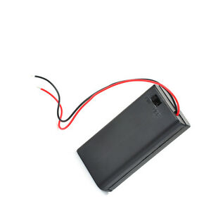 1pcs 2 Aa 2a Battery Holder Box Case With On off Switch And Cover 2aa Battery Ca