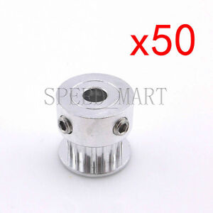 50pcs Gt2 Aluminum Timing Pulleys Reprap Prusa Mendel 3d Printer 16 Tooth Teeth