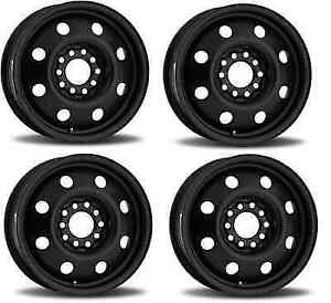 Us Wheel 62 5642s Set Of 4 15x6 Oem Winter 41mm Offset Matte Black Wheels