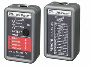 Ideal Linkmaster Utp stp Wiremapper Tester Home Ethernet Cable Wiring Debugger