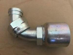Crimp Style Hydraulic Fitting Elbow 1 1 4 Seal lok Swivel Parker 1j943 20 20
