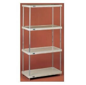 Nexel 4 shelf Solid Plastic Shelving Unit With Clear Epoxy Posts 18 w X 36 l X