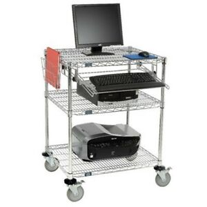 Nexel 3 shelf Computer Workstation 24 w X 30 l X 42 h