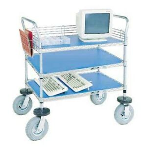 Nexel 3 shelf Computer instrument Cart 24 w X 60 l