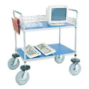Nexel 2 shelf Computer instrument Cart 24 w X 48 l
