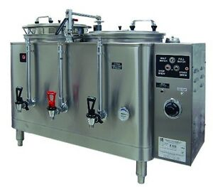 Grindmaster cecilware 7776e Amw Twin Midline Pump Urns With Twin Liners 6 gallo