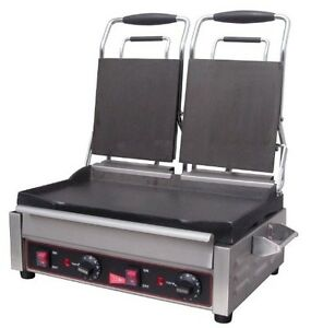 Grindmaster cecilware Sg2lf 240v Double Flat Sandwich panini Grill 7 25 By 9 in