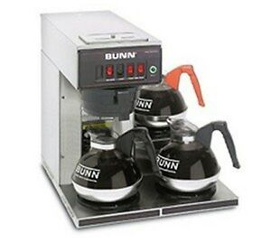 Bunn o matic 12950 0112 Cwt15 3 Automatic Coffee Brewer 3 Lower Warmers Plas