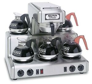 Bunn Commercial Coffee Maker 12 Cup Rt W 5 Warmers Stainless Steel 20835 00