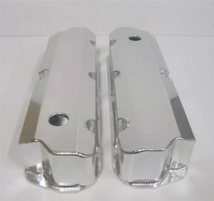 Sb Ford Fabricated Aluminum Tall Valve Covers Sbf 289 302 351w 1 4 Billet Rail