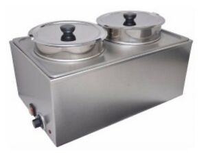Uniworld Double Food Warmer Without Drain Valve Includes Adapter Plate And 2 X