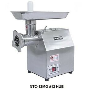 Uniworld Stainless Steel Commercial Meat Grinder W 250 Lbs Per Hour Capacity Rpm