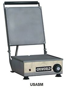 Uniworld Stainless Steel Commercial Small Electric Sandwich Grill W Adjustable