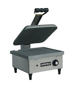 Uniworld Stainless Steel Commercial Panini Grill 14 X 13 Grid Plate 1550w W