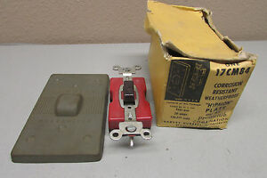 Hubbell 17cm84 Hypalon Plate And Ac Press Switch Combination 20 Amp 120 277v