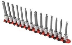 Sunex Tools 9921 14 Piece 3 8 Drive Long Metric Ball Hex Hex Socket