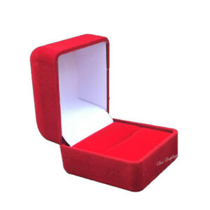 Lot Of 48 high Quality Velour Ring Gift Boxes Red Ring Box Jewelry Boxes