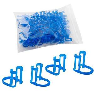 1000pcs Disposable Cotton Roll Holder Blue Clip For Dental Clinic 10 Bags