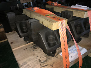 Vertical Boring Mill Face Plate Jaws 6 T slot Separation Set Of 4