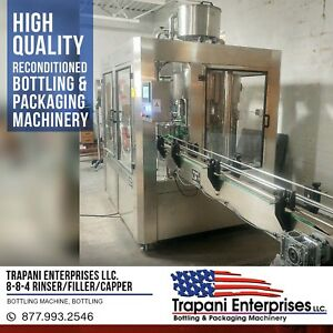 Trapani Enterprises Llc 8 8 4 Rinser filler capper Bottling Machine Bottling