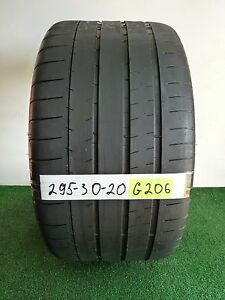 Michelin Pilot Super Sport 295 30 20 101y Used Tire 48 50 G206