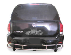 Wynntech S s Rear Bumper Guard Protector Double Pipe For 2004 2015 Nissan Armada