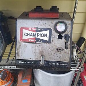 Vintage Champion Spark Plug Cleaner Tester Gas Service Station