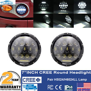 7 Round Pair Heavy Duty Truck Led Sealed Projector Hid Headlights H5024