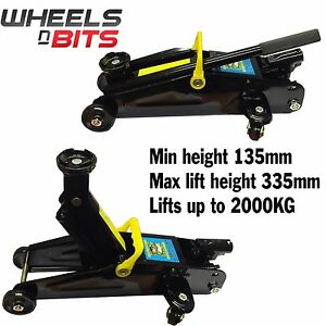 New Wheels N Bits Car Van 4x4 2 Ton Tonne Hydraulic Lifting Trolley Floor Jack