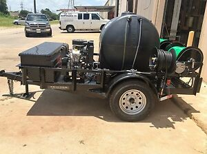 Trojan Trailer Mounted Sewer Drain Line Jetter 10 Gpm 3000 Psi