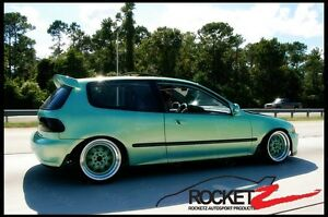 92 95 Honda Civic Jdm Bomex Bx Style Hatchback Roof Wing Spoiler Frp Can Usa