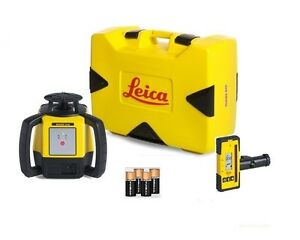 Rotating Laser Leica Rugby 610 W Rod 140 Alkaline Package 6008614
