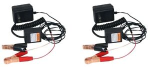 New 2 Pack 12 Volt Automatic Car Battery Float Trickle Charger W Safety Shutoff