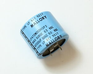 Lot 22x Mallory 4700u 50v Aluminum Electrolytic Snap In Capacitor Lp472m050h3p3
