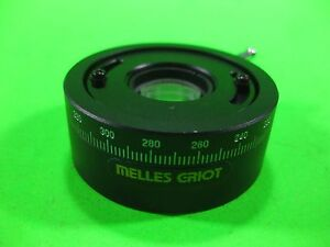 Melles Griot Lens Holder Rotation Stage 2 Rotator Used