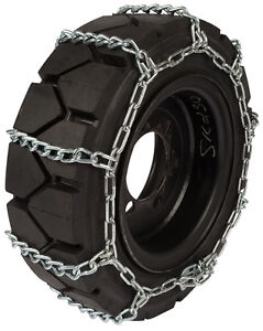 12x16 5 Skid Steer Tire Chains 8mm Link Loader Bobcat Snow Ice Traction