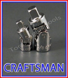 Craftsman Hand Tools 2pc 1 4 3 8 Universal Wobble Ratchet Flex Joint Set