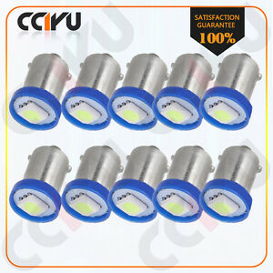 10pcs Ba9s 1895 Ice Blue 1smd Led Bulbs Instrument Dash Light Lamp For Chevrolet