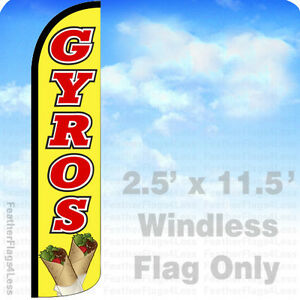 Gyros Windless Swooper Flag Feather Banner Sign 2 5x11 5 Yz