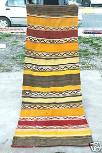 2 9 X8 Antique 1900 1939s Sivas Flat Woven Wool Natural Dyed Kilim Runner Rug