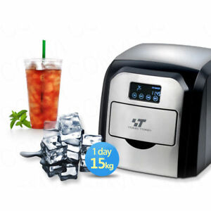 Countertop Ice Maker Portable Touch Control Drawer Ice Cube Machine 22lbs Day