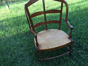 Wide Base Wicker Chair