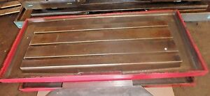 45 5 X 19 625 X 3 5 Steel Welding T slotted Table Cast Iron Layout Plate Jig