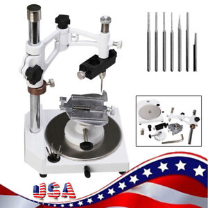 Dental Lab Parallel Surveyor Equipment With Tools Handpiece Holder 6pcs Spindle