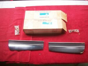 1974 Chevy Monte Carlo Nos Front Fender Mouldings In Gm Boxes Pair