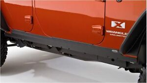 Bushwacker Door Sill Rocker Panel Trail Armor 07 18 Jeep Wrangler Jk 4 Door