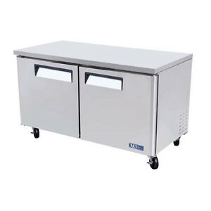 Turbo Air Muf 60 Under Counter Freezer Two Door 16 Cu Ft