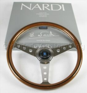 Nardi Classic Steering Wheel 360 Mm Wood Polished Round Holes